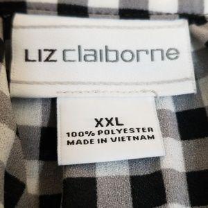 Liz Claiborne Tops - Liz Claiborne | Checkered Blouse w/Buttons NWOT
